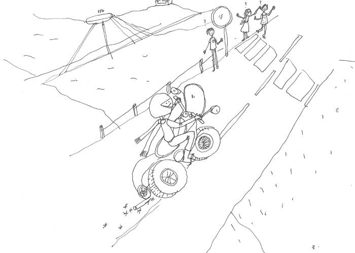 kocur na mopede